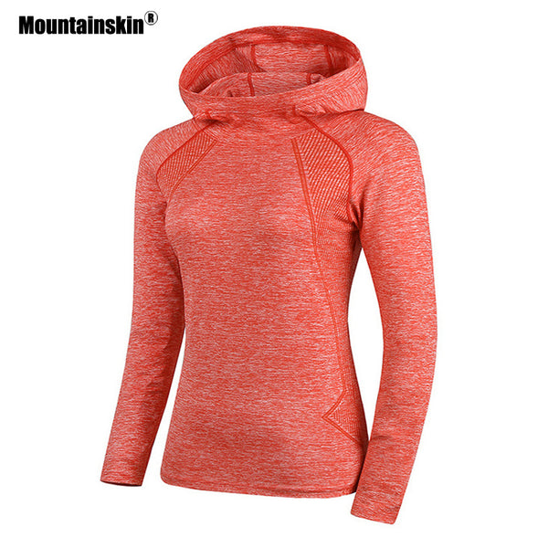 Mountainskin Women's Outdoor Quick Dry Breathable Yoga Shirts Running Trekking Dancing Top Sports Female Tracksuit Jacket VB049