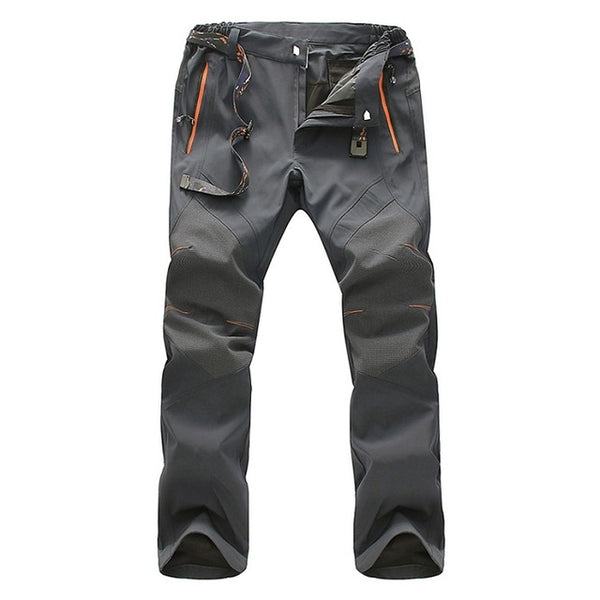 Mountainskin 5XL Men's Summer Softshell Quick Dry Pants Outdoor Sports Waterproof Trekking Hiking Camping Male's Trousers VA117