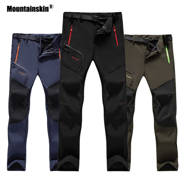 6XL Mountainskin Women Men's Waterproof Hiking Sports Pants Summer Quick Dry Breathable Outdoor Trekking Camping Trousers VA234