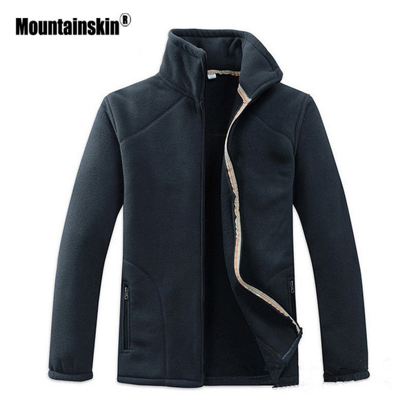 Mountainskin Spring Polar Men's Fleece Windbreaker Outdoor Warm Softshell Jacket Camping Hiking Trekking Male Sports Coat VA228
