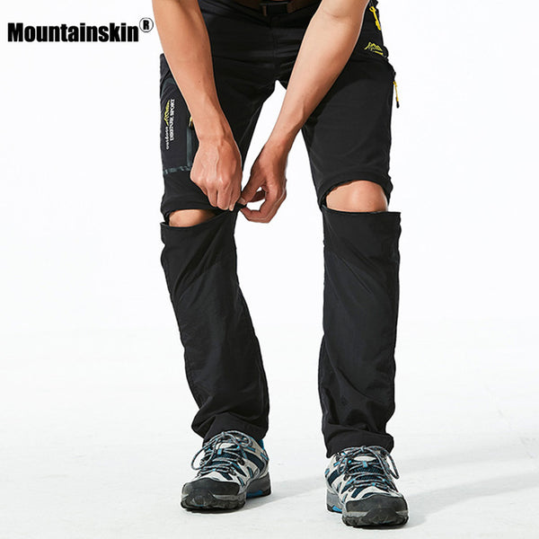 Mountainskin 6XL Men's Summer Quick Dry Removable Pants Outdoor Thin Male Shorts Hiking Camping Trekking Fishing Trousers VA239