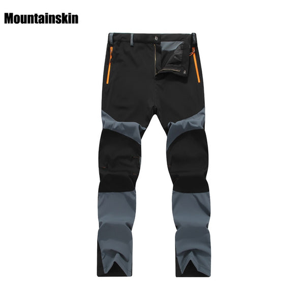 Mountainskin Breathable Quick Dry Waterproof Pants Summer Male Outdoor Sports Trekking Trousers Camping Hiking Pants 4XL VA004