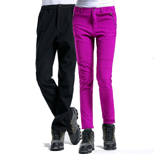 2018 New Brand Winter Men Women Pants Outdoor Sports Inside Fleece Trousers Hiking Camping Trekking Ski Waterproof  Pants VA033