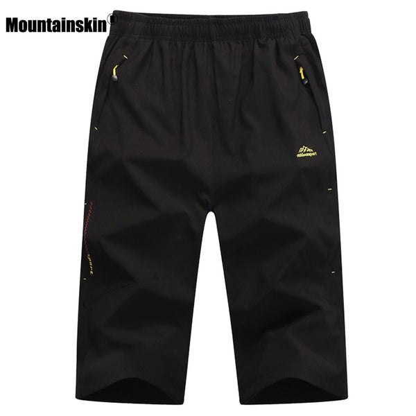 Mountainskin Men's Summer Quick Dry Breathable Shorts Outdoor Waterproof Hiking Fishing Trekking Camping Male Cropped Trousers