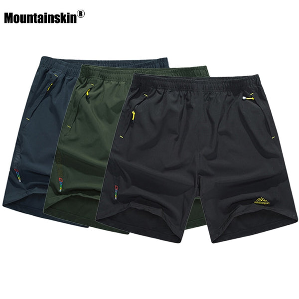 Mountainskin Men's Summer Quick Dry Breathable Shorts Outdoor Sportswear Mountainskin Hiking Trekking Running Male Trousers