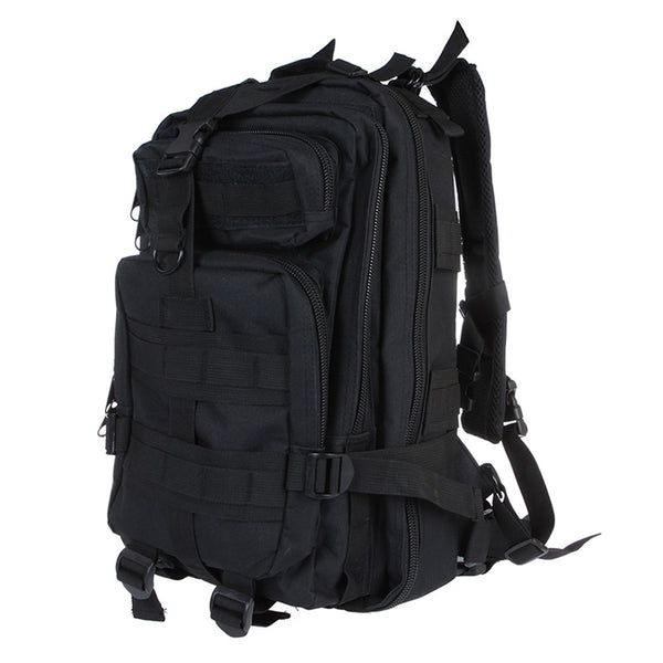 Outdoor Sport Military Tactical Backpack Molle Rucksacks Camping Hiking Trekking Bag Black