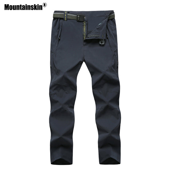 Mountainskin Men's Quick Dry Outdoor Sports Hiking Pants Plus Size 8XL Breathable Camping Trekking Fishing Brand Trousers VA298