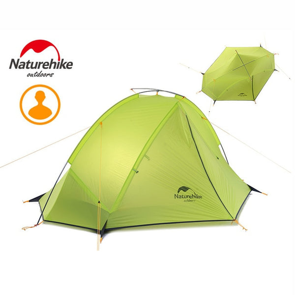 NatureHike NH17T180-J Double Layer 1-2 Person Backpacking Tent 3 Season For Camping Hiking Trekking Travelling Silicone Coated