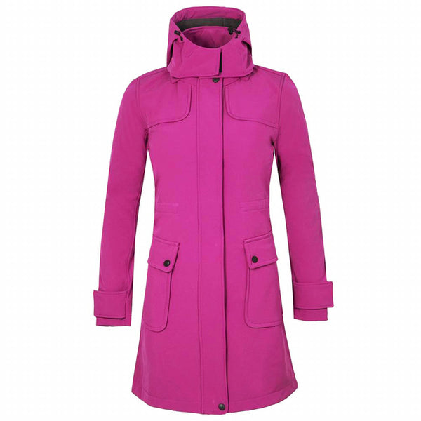 Mountainskin Women's Winter Fleece Softshell Jacket Outdoor Long Windbreaker Hiking Camping Trekking Climbing Brand Coats VB078