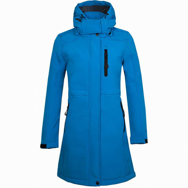 Mountainskin Women's Softshell Fleece Long Jacket Outdoor Windbreaker Hiking Camping Trekking Climbing Female Brand Coats VB076