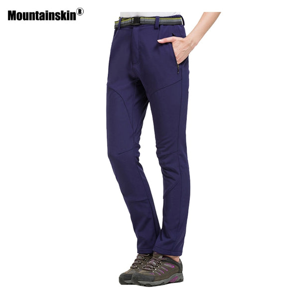 Mountainskin Women Winter Softshell Fleece Pants Outdoor Sports Trekking Hiking Camping Fishing Skiing Sportswear Trousers VB062