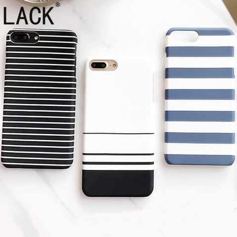 LACK 2017 Newest black and white Stripes Phone Cases For iPhone 7 Fashion zebra stripes Back Cover For iphone 7 6 6S Plus 5 5S-moslily