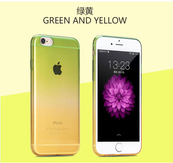 Colorful Slim Translucent Flexible TPU Soft Defender Case Protective Shell for Apple iPhone 4 4S 5 5S SE 5C 6 6S 7 6Plus 7 Plus-moslily