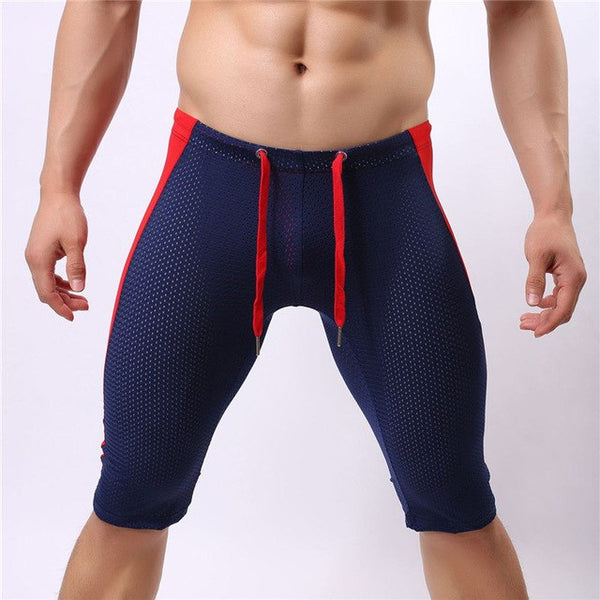 BRAVE PERSON Multifunctional Men's Beach Board Shorts Mesh Breathable Knee-length Tights Shorts Beach Wear Shorts Men Trunks-moslily