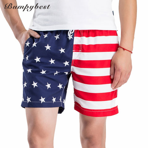 Bumpybeast Beach Swimsuit USA Man Board Shorts Homens Fast Drying Beach Shorts Brand Swimwear Men Shorts Holidays Boardshorts-moslily