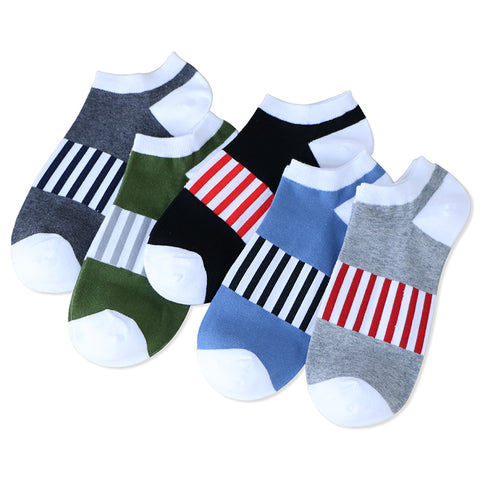Socks men short A45 summer socks solid quality cotton socks men regular thickness-moslily