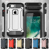 Armor Case for iPhone 8 Rugged Soft TPU Phone Back Cover for iPhone 5 5S SE 6 6S 7 X Plus Slim Military iPhone8 6Plus 7Plus-moslily