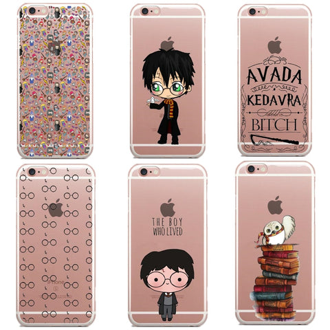 Avada Kedavra Bitch shirt for Harry Potter Mapa Soft Silicone TPU Phone Cases For iPhone SE 5S 6 6S 6Plus 7 7Plus 8 8Plus X-moslily