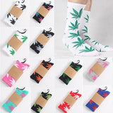 Fashion 1Pair Comfortable High Quality Cotton Socks Marijuana Leaf Maple Leaf Casual Long Weed Crew Sock-moslily