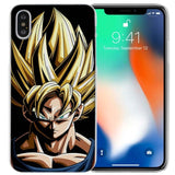 BINYEAE Dragon Ball Goku Clear Cell Phone Case Cover for Apple iPhone X 6 6s 7 8 Plus 4 4s 5 5s SE 5c-moslily