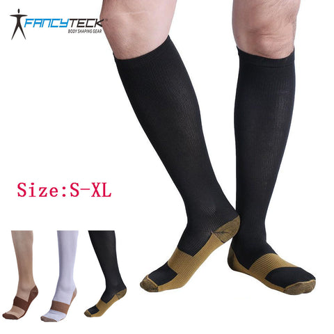 Socks Men's Socks Compression Socks Copper Knee Compression Men Anti-Fatigue Long Soft-moslily