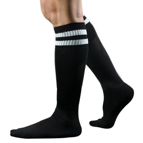 Winter Socks Men Long Socks Striped High Cotton and Spandex Over The Knee Sock Hosiery Meias Homens #OR-moslily