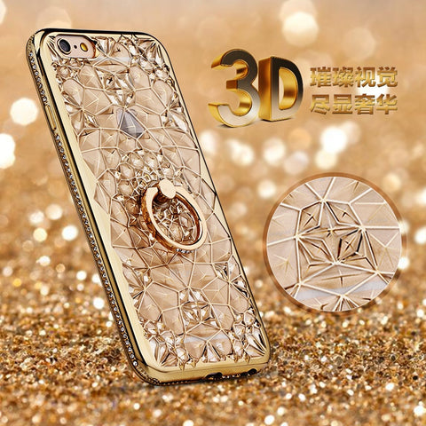 For iPhone 6S Case Glitter Crystal Rhinestone Bling Case for iPhone 6s 6 plus 7 plus Case 8 8 Plus Hoesjes X 10 Luxury Diamond-moslily