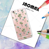 Jaomax Fashion Green Plants Cactus Banana Leaves Case For iphone X 6 6s Plus 5 5S SE 7 8 Plus Transparent Silicone Shell Cover-moslily