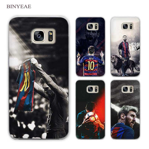 BINYEAE Lionel Messi Clear Phone Case Cover for Samsung Galaxy S3 S4 S5 Mini S6 S7 S8 Edge Plus-moslily