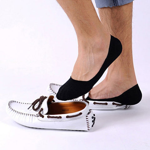 t 1 pairs Men's Sock Slippers Shallow mouth Non-slip Invisible Socks Short Boat Socks Summer cotton Slip Male Ankle Socks17-moslily
