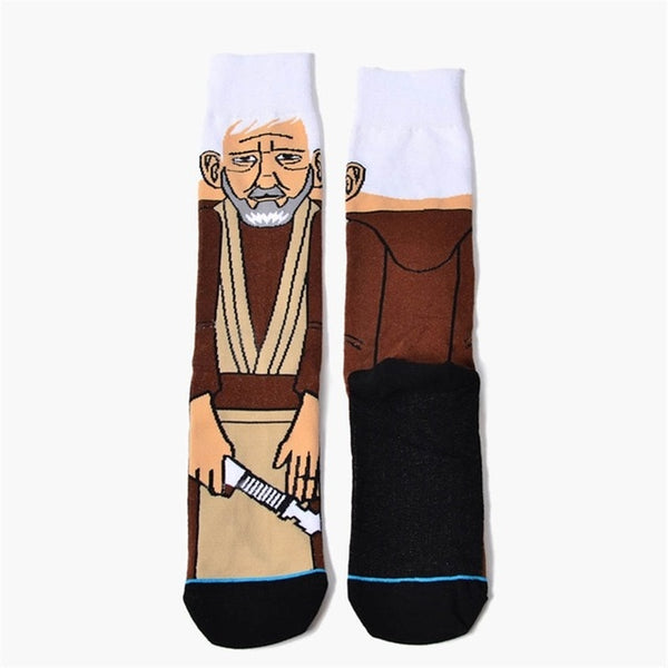 Star Wars The Last Jedi fashion Women Funny cotton socks men Crew long happy sock male winter polo warm Cartoon print flag socks-moslily