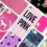 MOUGOL secret pink letters love pink design hard clear Case Cover for Apple iPhone 7 6 6s Plus SE 4s 5 5s 5c Phone Case-moslily