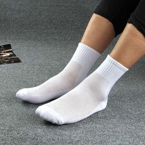 New Arrival Men Socks men breathable Comfortable mesh thin cotton socks male black business Men socks 10pairs/lot-moslily