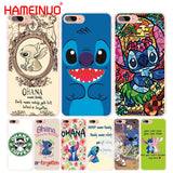HAMEINUO Lilo and Stitch Quote Ohana Means Family cell phone Cover case for iphone 4 4s 5 5s SE 5c 6 6s 7 8 X plus-moslily
