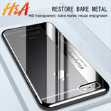 H&A Luxury Fashion Plating Soft Phone Case For iPhone 7 8 6 6s Plus TPU Electroplating Cover For iPhone 6 8 7 Plus Cases Shell-moslily