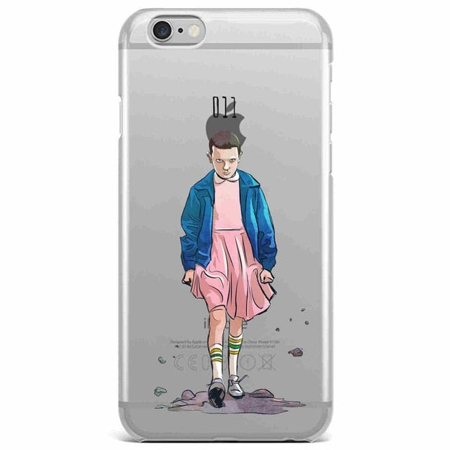 free shipping d8bb7 3f6be Stranger Things Christmas Lights Soft silicone TPU Phone Cases For iphone 7  7Plus 6S 6Plus 5 5S SE 8 8Plus X Cover Fundas Capa