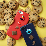 3D Sesame Street Cute Cartoon Cookie Elmo Soft leather case for iPhone 6 6s 7 8 plus 6splus 5 5s SE 10 X luxury Phone cover-moslily