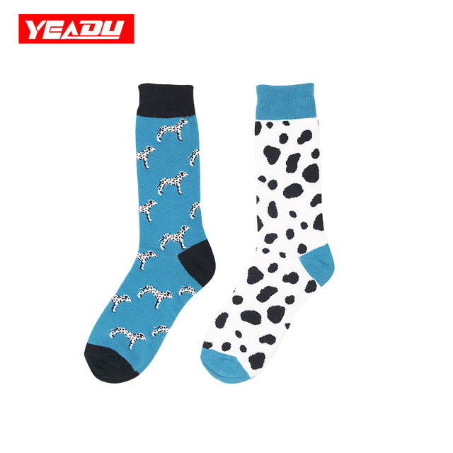 The Cheapest Price Yeadu 30 Colors New Combed Cotton Mens Socks Stripe Diamond Harajuku Skateboard Soft Casual Dress Wedding Party Sock For Men Underwear & Sleepwears