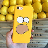 SZYHOME Phone Cases For iPhone 5 5s SE 6 6s 7 Plus Case Funny Cartoon Yellow Plastic For Apple iPhone 7 Mobile Phone Cover Case-moslily
