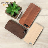 KISSCASE Natural Wood Case For Samsung Galaxy S8 S9 Plus S7 S7 Edge Vintage Bamboo Wooden Cover For Galaxy S7 Edge S6 S6 Edge S9-moslily