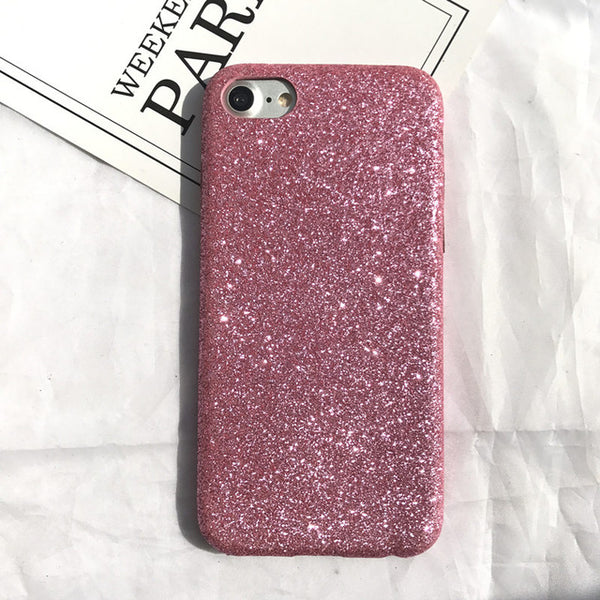Luxury fashion vintage Bling Shining Scrub fine sand glitter Flash soft case for iphone 6 6s 6plus 7 7plus 8 8 plus cover coque-moslily