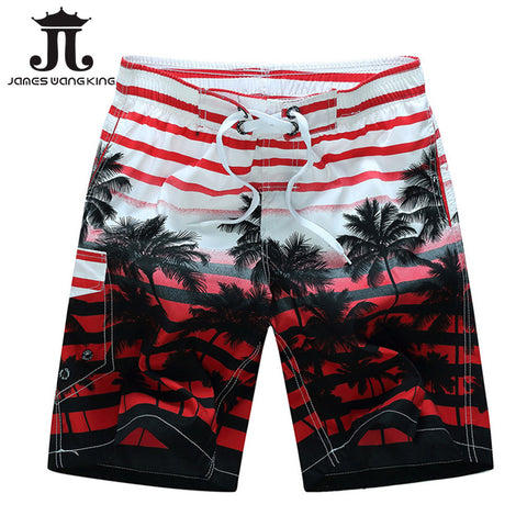 Bermuda Summer 2018 Men Beach Shorts fashion Printing coconut trees BoardShorts Quick-drying shorts for men Plus size M-6XL-moslily