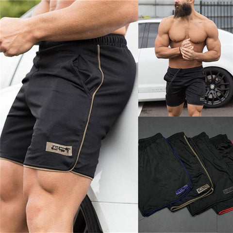 Men Clothing 2018 Bodybuilding Summer Shorts Board Shorts Workout Fitness Short Pants-moslily