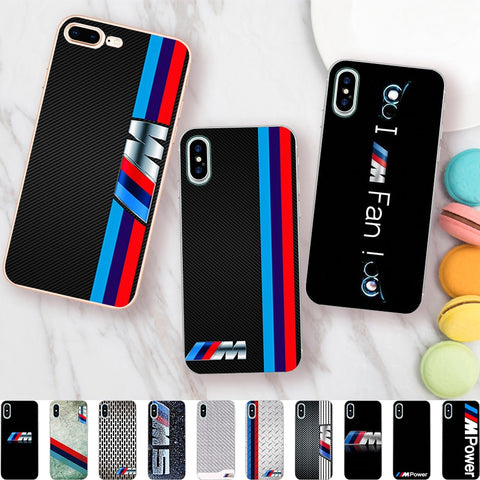 Minason Car Logo Case for iPhone X 5 S 5S 6 6S 7 8 Plus BMW Cover Transparent Capas Soft Silicone Phone Fundas Capinha Coque-moslily