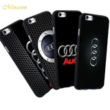 Minason For iPhone 5 5s SE 6 s 6s 6/7/8 plus X Audi Case Luxury Car Audi A4 A6 Logo Scrub Silicone Phone Case For iphone 7 case-moslily