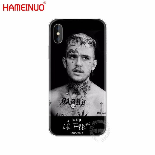 HAMEINUO Lil Peep cell phone Cover case for iphone 6 4 4s 5 5s SE 5c 6 6s 7 plus case for iphone X 8-moslily