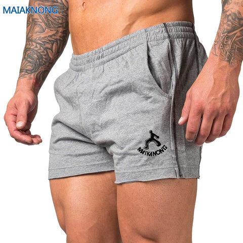 MAIKANONG 2018New fashion men's shorts and beach shorts, cotton and bodybuilding shorts and g yms shorts Big size 226-moslily
