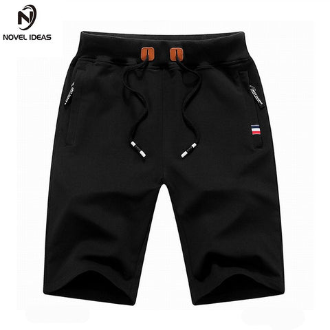 Novel ideas 2017 Solid Men's Shorts 4XL Summer Mens Beach Shorts Cotton Casual Male Shorts homme Brand Clothing-moslily