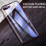 H&A Luxury Transparent Plating Phone Case For iPhone 7 8 6 6s Plus Full Cover TPU Cover For iPhone 8 7 Plus Protective Cases-moslily