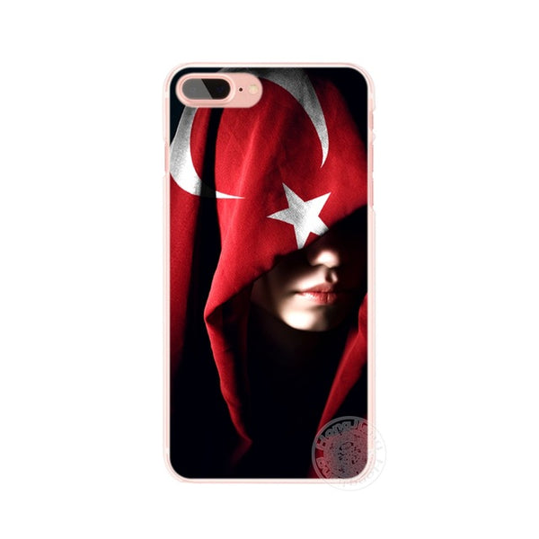 HAMEINUO turkey turkish flag cell phone Cover case for iphone 4 4s 5 5s SE 5c 6 6s 7 8 X plus-moslily